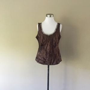 Brown SILK Camisole Size 12 by Tribal...